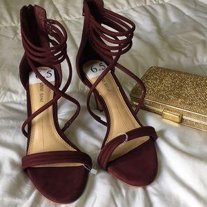 ❄️Gianni Bini velvet sandal heels